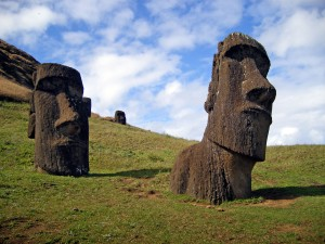 Moai on Easter Island (Also Found on That One Level of Gradius)