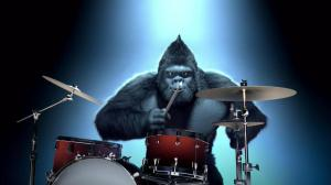Duracell-Powered Luchador Not Available, But This Drummer Gorilla Showed Up In The Google Image Search, So Here It Is (I Have No Idea)